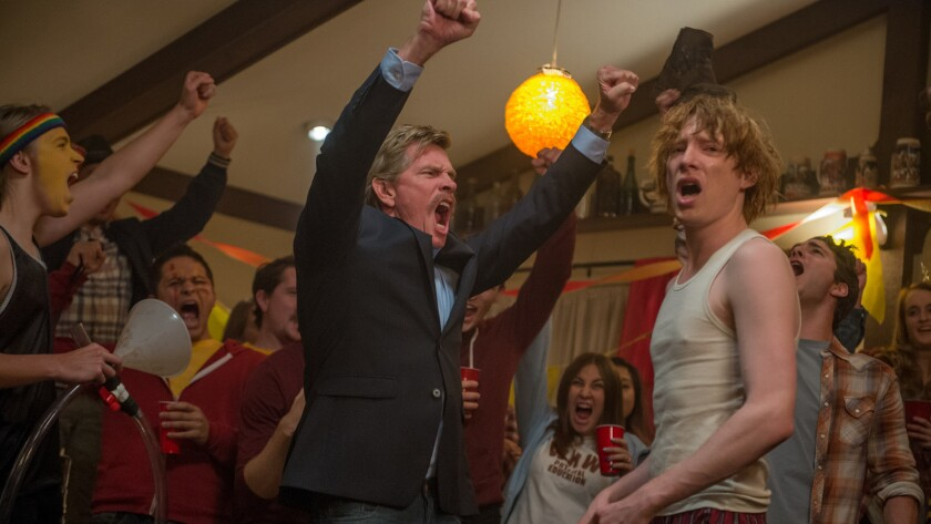"""Thomas Haden Church, left, and Domhnall Gleeson in a scene from """"Crash Pad."""""""