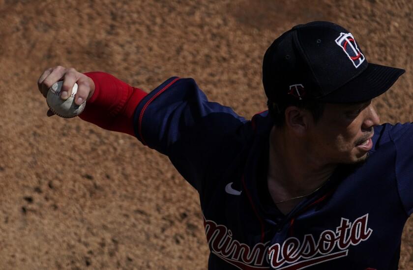 Minnesota Twins starting pitcher Kenta Maeda (18)