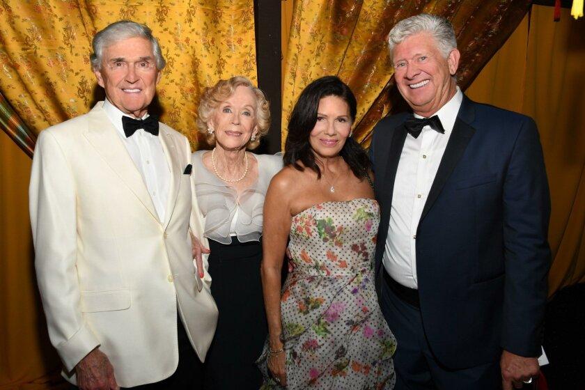 Jack and Elizabeth Evans, Glidia and David Hargis