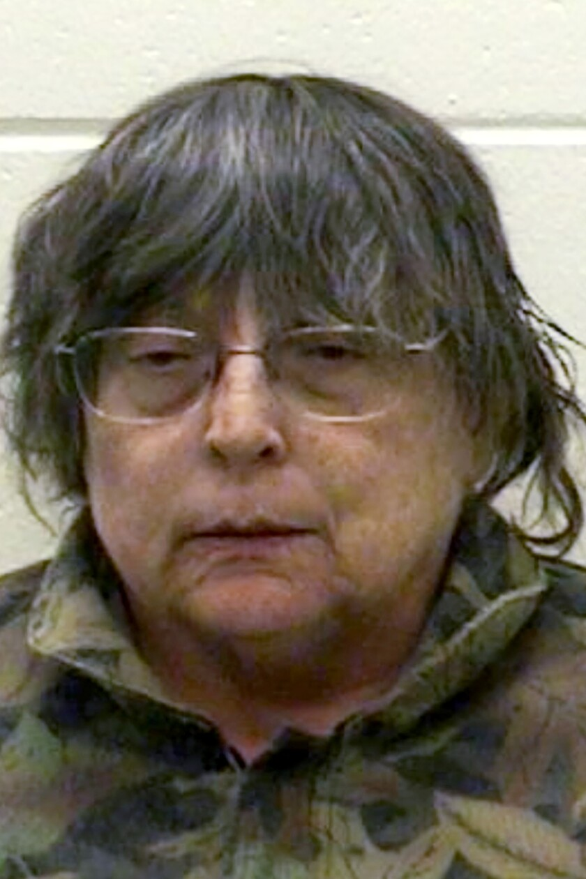 This undated photo provided by the Marinette County Sheriff's Office in Marinette, Wisc., shows Paula Bergold. Bergold has been charged with hiding her mother's corpse after authorities say she didn't report the death for up to four months while living off her mom's income. According to charges filed Monday, Sept. 23, 2019, Bergold put the body of her 89-year-old mother, Ruby, in a small plastic tub and moved it to the basement of her Peshtigo home in eastern Wisconsin, about 50 miles (80 km) north of Green Bay. (Marinette County Sheriff's Office via AP)