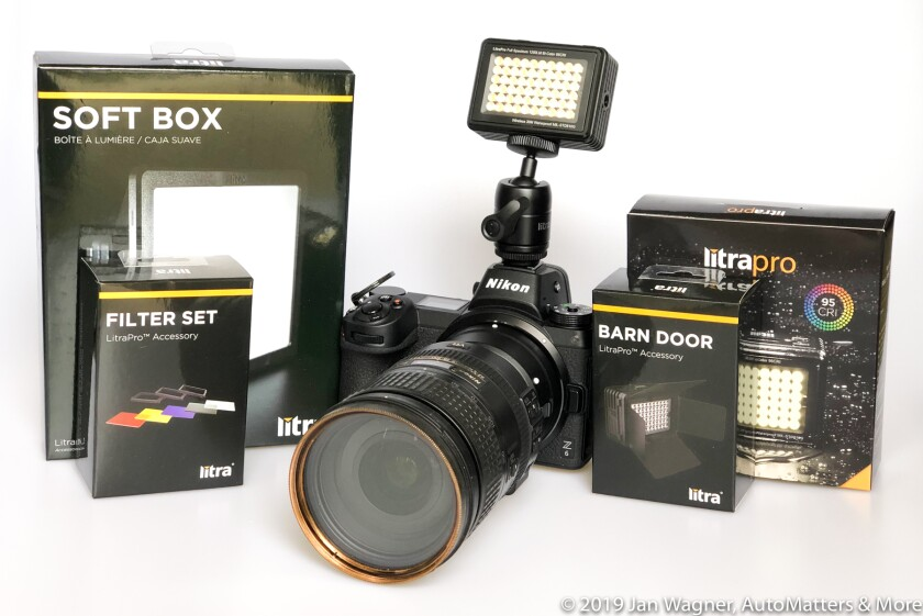 LitraPro LED light and accessories