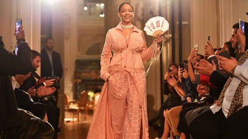 Rihanna shows Fenty Puma collection at Paris Fashion Week