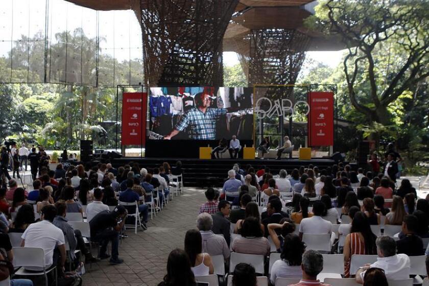 Los finalistas de las distintas categorías del Premio y Festival Gabriel García Márquez de periodismo fueron registrados este miércoles, durante la Maratón de las mejores historias de Iberoamérica, en Medellín (Colombia). EFE