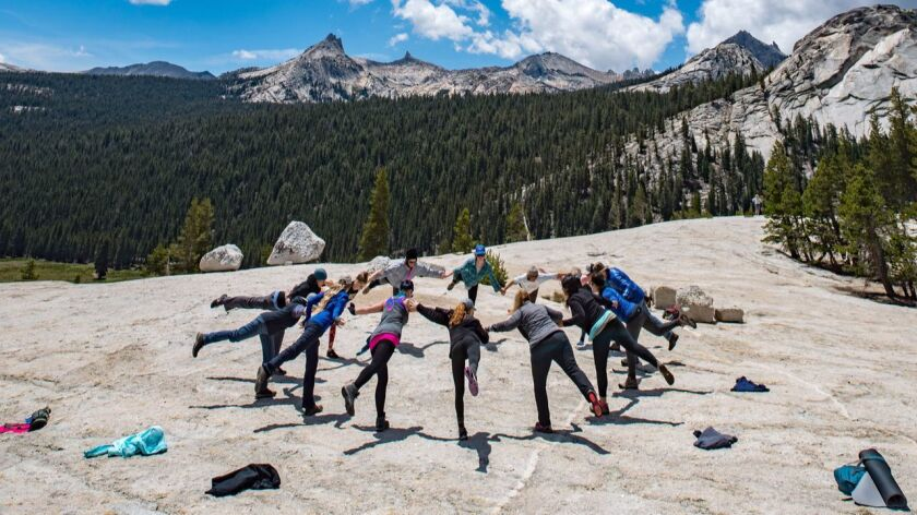 Building community in nature, Supporting our balance together Tuolumne Meadows Campground, Yoga retr