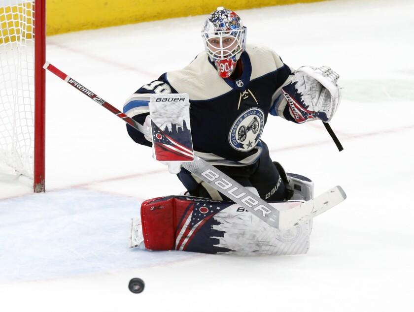 Blue Jackets Merzlikins Contract Hockey