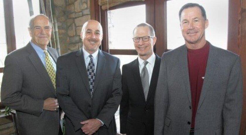 Moderator George Chamberlin with panelists Louis Galuppo, John Olinski, Bob Jackson