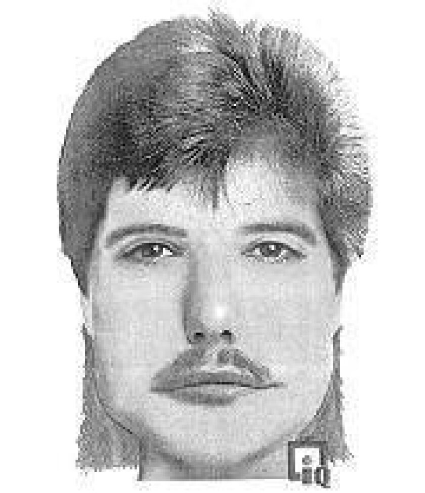 Police artist's sketch of suspect.