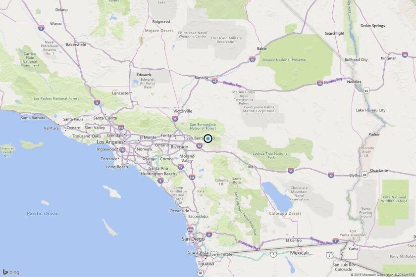 Earthquake: 3.0 quake strikes near Oak Glen, Calif.