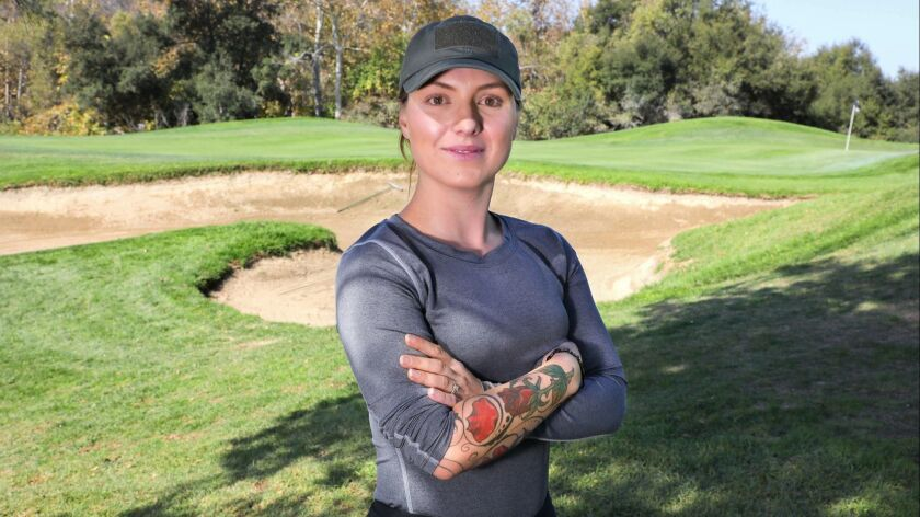 Portrait of MacKenzie Kline at Twin Oaks Golf Course.