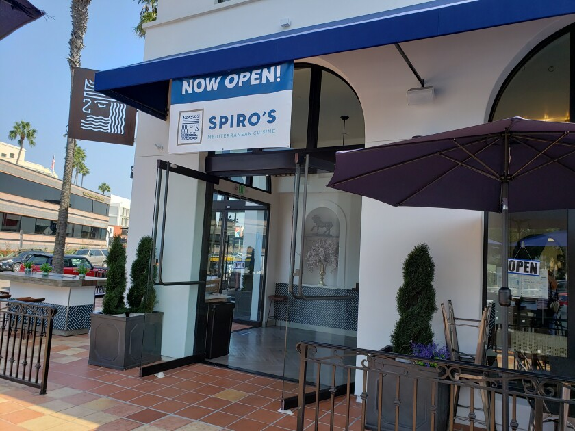 Spiro's Mediterranean Cuisine is now open at 909 Prospect St. in La Jolla.