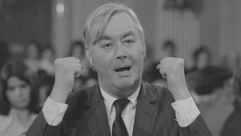 "Daniel Patrick Moynihan in March 1976, from the documentary ""Moynihan."""