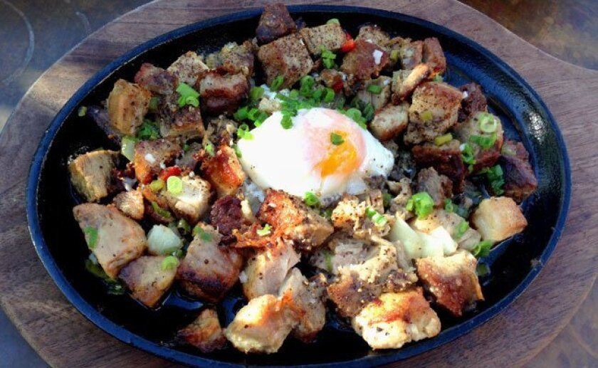 The sisig at Burlap restaurant in the Del Mar Highlands Town Center.