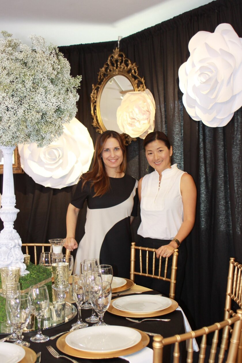 Tables design chair Nicole Velazquez and design co-chair Susan Barrera (Not pictured: Design co-chair Nicole Repp)