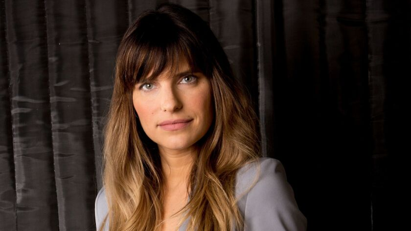 Portrait of actress Lake Bell at Larry King Live Studio in Glendale, CA.