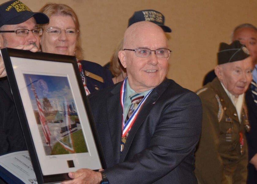 Ed Berger of the Poway Veterans Organization.