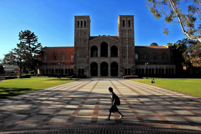UCLA in Westwood, where 56% of undergraduates receive aid.