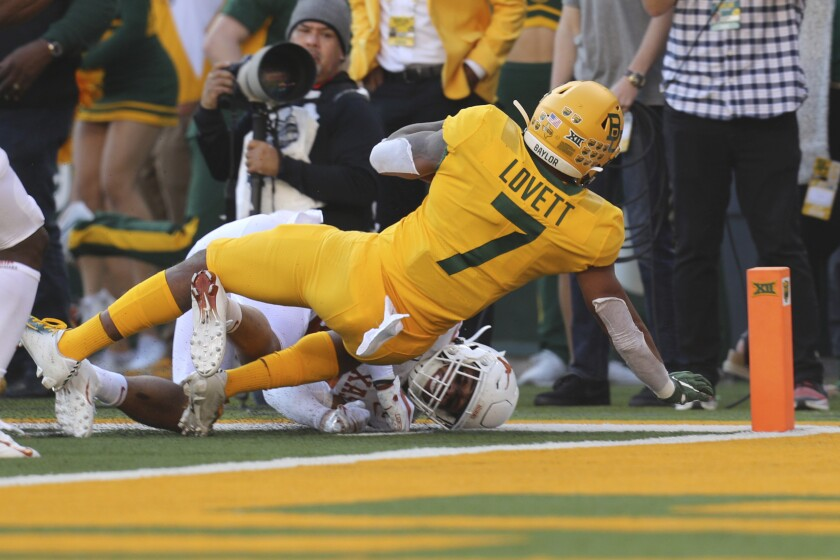 No 13 Baylor In Big 12 Title Game With 24 10 Win Over Texas