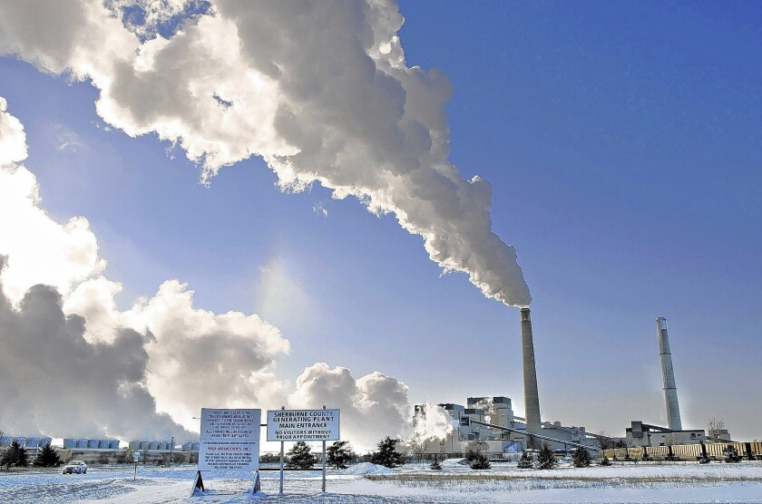 The Environmental Protection Agency, in announcing plans Monday to reduce power-plant emissions by 30% by 2030 from 2005 levels, estimated that the measure will cost up to $8.8 billion annually for compliance. Above, the Sherco power plant in Becker, Minn.