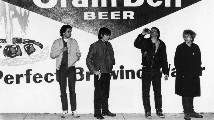 The Replacements. L-R: Chris Mars, Paul Westerberg, Bob Stinson, and Tommy Stinson from the mid 80s.