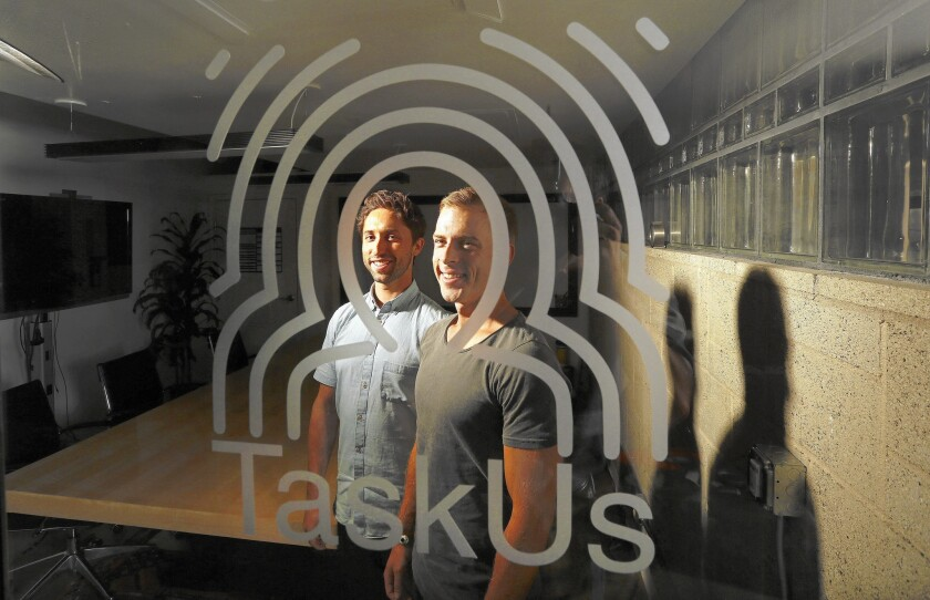 Jaspar Weir and Bryce Maddock are founders of TaskUs, which recently opened its fifth call center in the Philippines and has 4,000 employees there. It's on track to pull in $50 million in revenue.