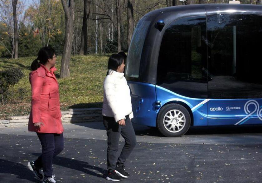 """El parque de Haidian, en el noroeste de Pekín, reabrió a principios de este mes sus puertas con innovaciones que lo convierten, de la mano del gigante tecnológico chino Baidu, en el primer """"parque inteligente"""" de recreo del mundo. EFE"""