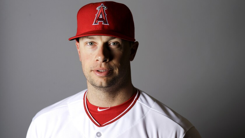 Daniel Nava poses for his portrait during media day at spring training on Feb. 26.