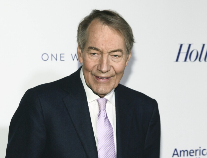 """FILE - In this April 13, 2017 file photo, Charlie Rose attends The Hollywood Reporter's 35 Most Powerful People in Media party in New York. The former chief makeup artist at Rose's interview show is suing him and saying the disgraced television journalist ran a """"toxic work environment"""" for women. Gina Riggi said she worked for 22 years for Rose and Bloomberg, the company where his Manhattan studio was located. Rose was fired in 2017 by PBS and CBS News for sexual misconduct. His attorney didn't immediately return messages seeking comment Friday, Sept. 20, 2019. (Photo by Andy Kropa/Invision/AP, File)"""