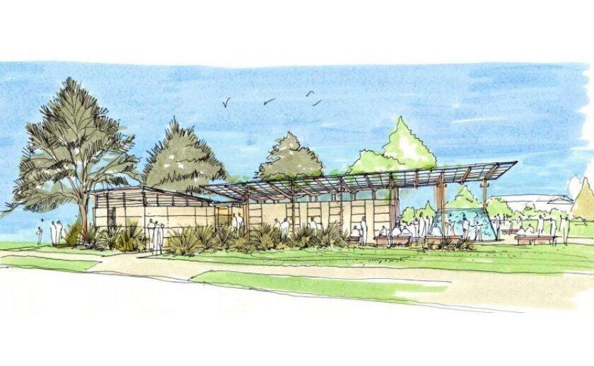 Rendering of the planned Cove Pavilion at Scripps Park
