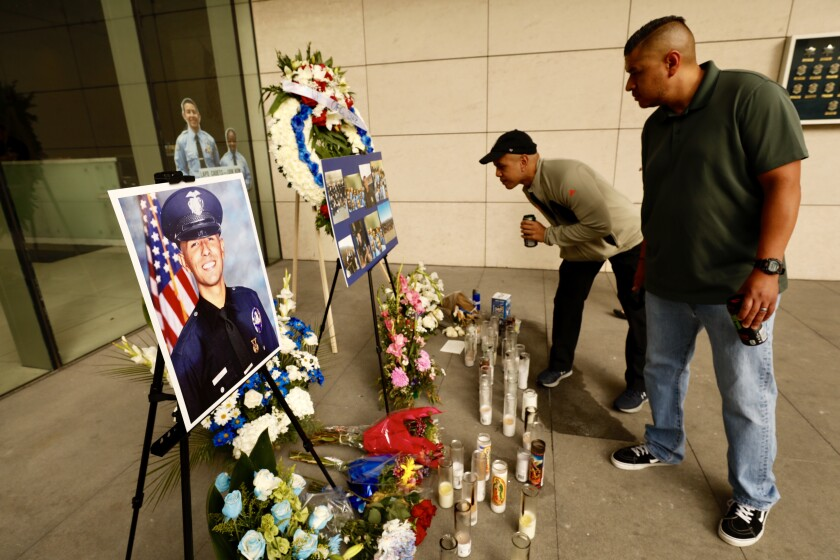 Memorial for LAPD Officer Juan Diaz
