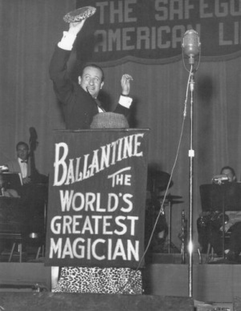 """""""Carl Ballantine influenced not only myself but a generation of magicians and comedians,"""" said Steve Martin, who presented Ballantine with the Lifetime Achievement Fellowship from the Magic Castle in Hollywood."""