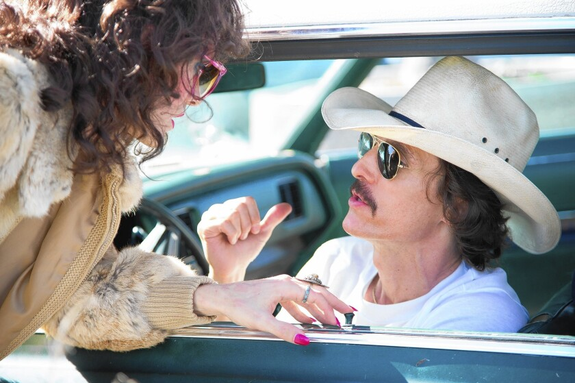 "Jared Leto , left, and Matthew McConaughey in ""Dallas Buyers Club."""