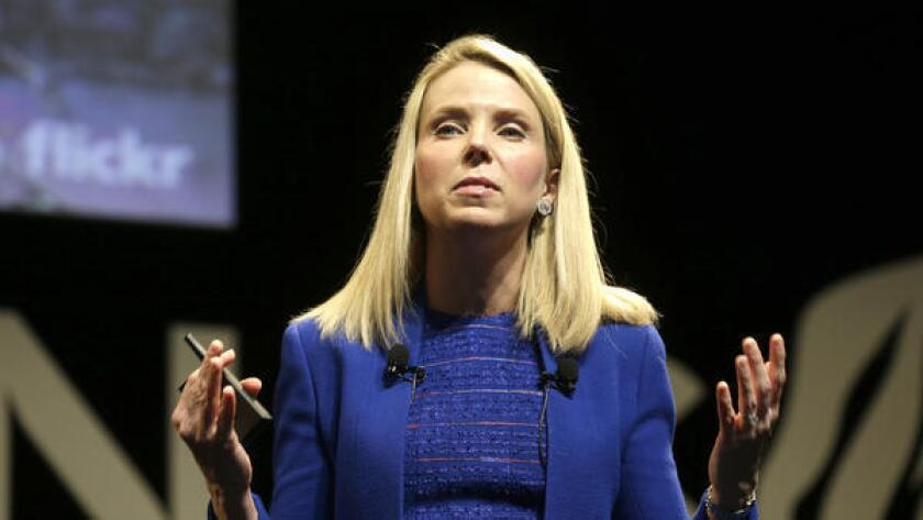 """""""I believe we can and will do better moving forward,"""" Yahoo CEO Marissa Mayer said of the company's second-quarter earnings results. Above, Mayer attends an advertising festival in Cannes, France."""