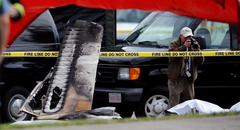 Una pequeña avioneta se estrelló hoy en una zona residencial de Bayonne, en el estado de Nueva Jersey, según informan medios locales. EFE/Archivo