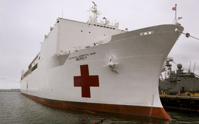 The Navy hospital ship, USNS Mercy, is preparing to leave Naval Base San Diego on Tuesday, on the first leg of Pacific Partnership 2012, the largest annual humanitarian and civic mission that will take it to the Philippines, Vietnam, Cambodia and Indonesia and provide medical, dental, veterinary, and civil engineering assistance during the four-and-a-half month deployment.