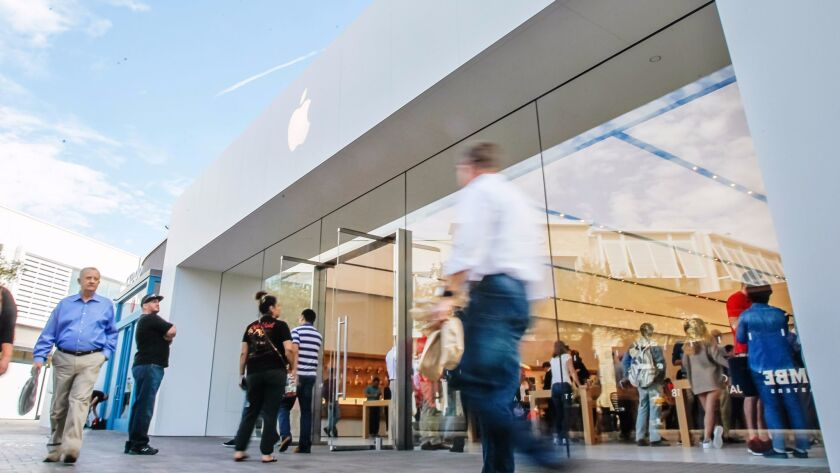 SAN DIEGO, CA November 16th, 2017   This is the front entrance during the opening of the new Apple S