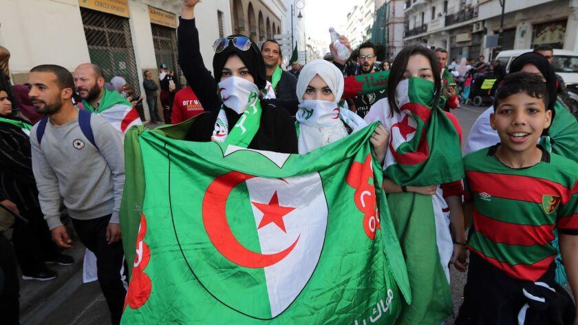 Algerians protest against Bouteflika, Algiers, Algeria - 15 Mar 2019