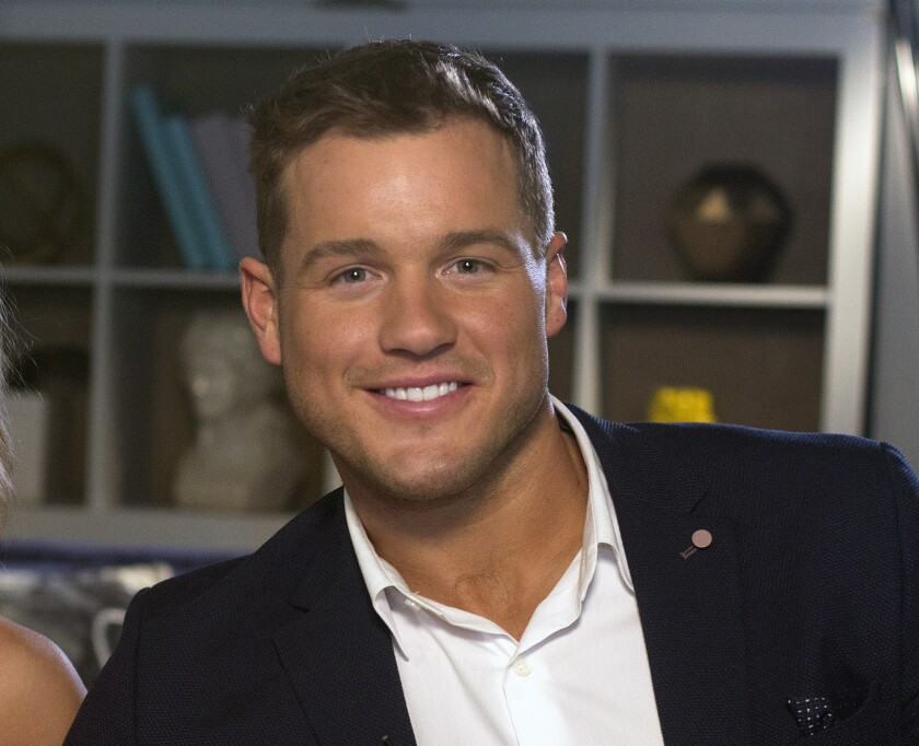 """=Colton Underwood from the reality series, """"The Bachelor"""""""