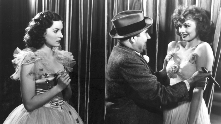 """Maureen O'Hara, left, and Lucille Ball, right, in """"Dance, Girl, Dance"""" (1940), directed by Dorothy Arzner."""