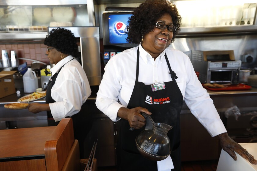 Ruthie Krocker has been setting plates of pancakes, topping off cups of coffee and warmly welcoming guests at Norms for 44 years.