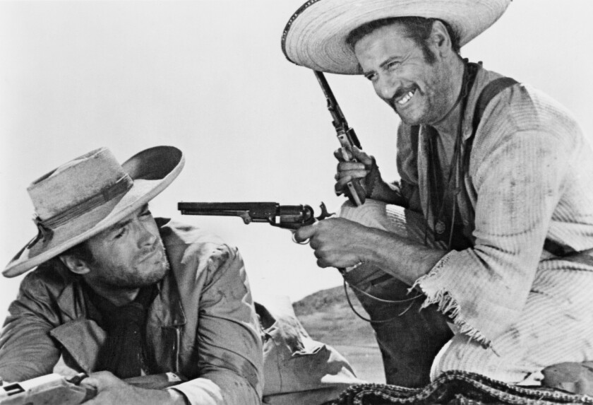 "Clint Eastwood and Eli Wallach in the movie ""The Good, the Bad and the Ugly."""