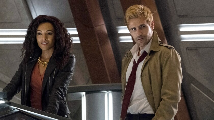 "Amaya Jiwe and Matt Ryan in ""DC's Legends of Tomorrow"" on The CW."