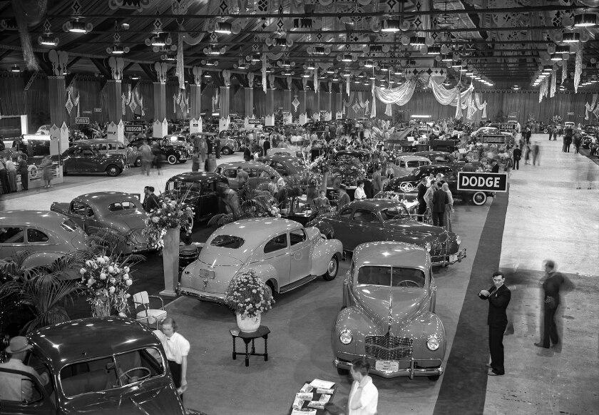 Automobile Show at Pan-Pacific Auditorium