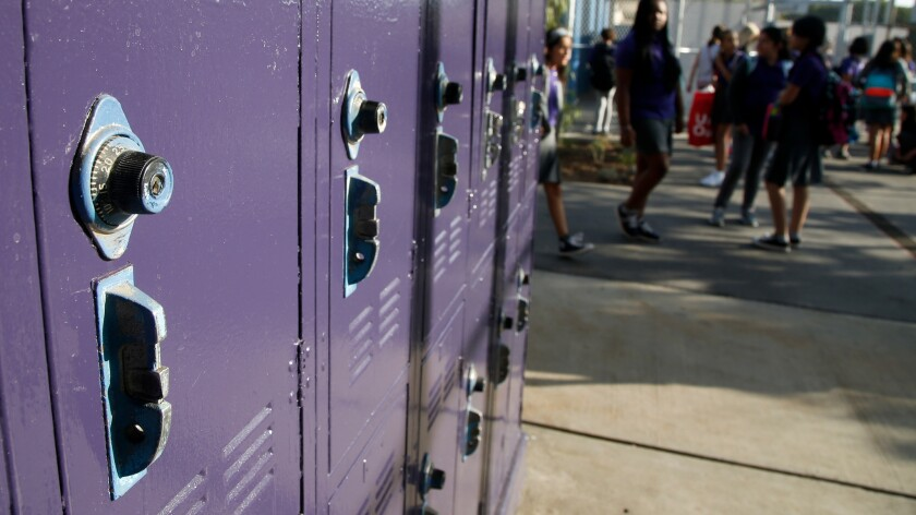 The lockers are gleaming with a fresh coat of purple paint on the first day of school at the Girls Academic Leadership Academy (GALA), a new girls-only school in Los Angeles. Schools statewide will soon be evaluated across a set of new categories.