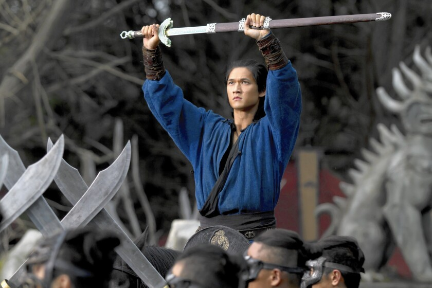 "Harry Shum Jr. as Tiefang in ""Crouching Tiger, Hidden Dragon: Sword of Destiny."""