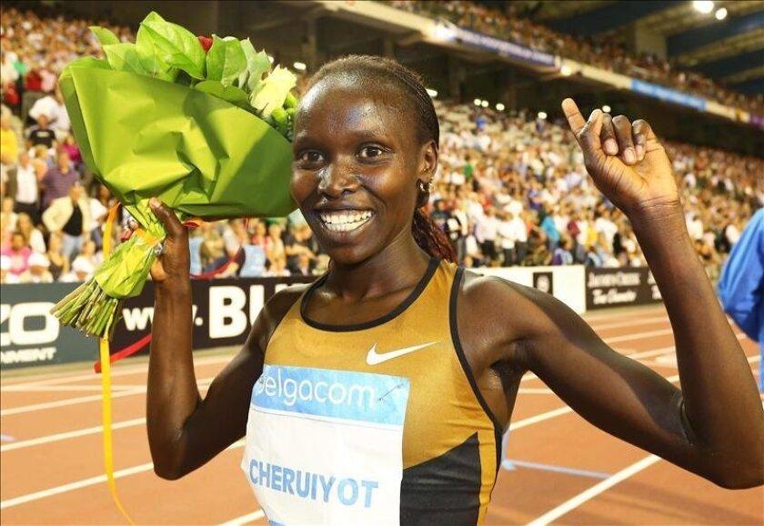 La atleta Vivian Jepkemoi Cheruiyot de Kenia. EFE/Archivo
