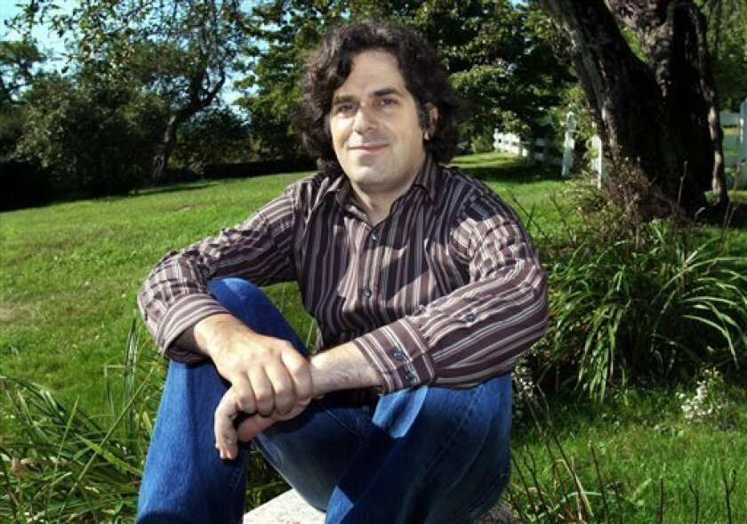 """FILE - This Sept. 2005 file photo shows Jonathan Lethem, author of """"Fortress of Solitude,"""" outside his summer home in Blue Hill, Maine. A musical based on Jonathan Lethem's celebrated 2003 novel """"The Fortress of Solitude"""" is heading toward New York. The Public Theater said Monday, March 4, 2013, th"""