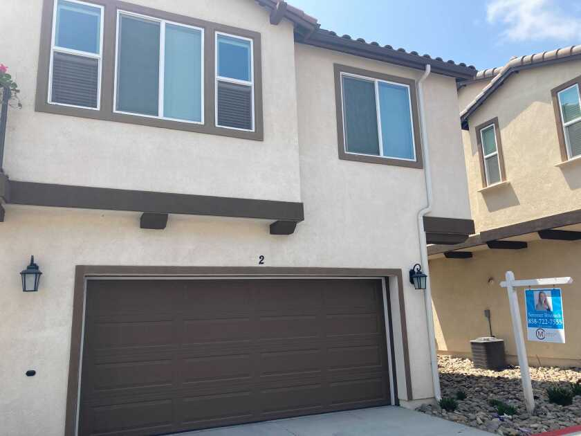 A townhouse listed for $599,000 in Chula Vista's Otay Ranch neighborhood in mid-August.