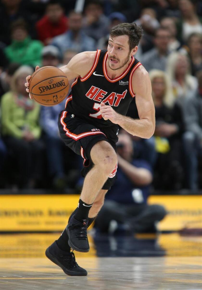 Goran Dragic de los Miami Heat en acción durante un juego de la NBA. EFE/Archivo