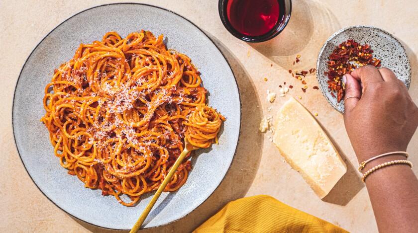 """Creamy """"Alla Amatriciana-ish"""" Pasta."""