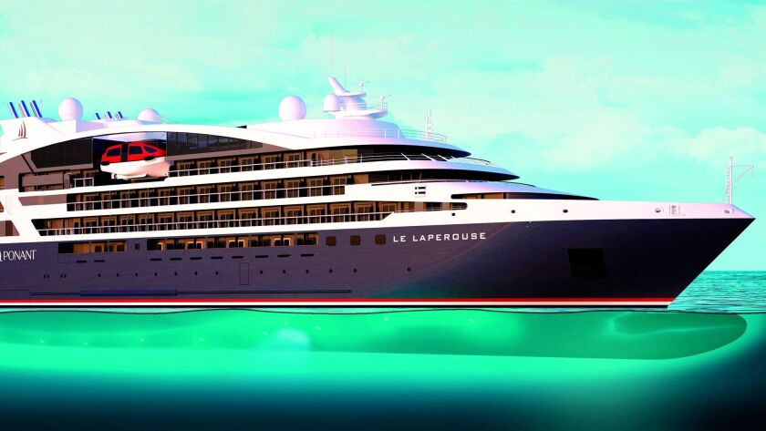 An artist's rendering of Ponant's upcoming small luxury expedition ships.